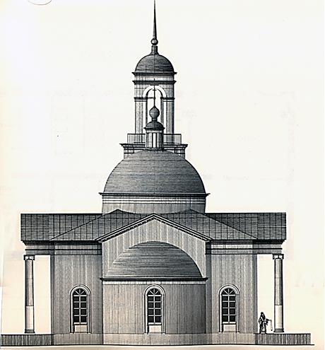 Здание храма видится в стиле
