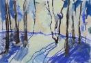 Зимний пейзаж. Таня Ядрова 9 лет